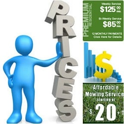 lawn business pricing example