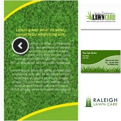custom landscape business cards
