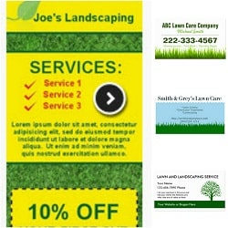 Landscaping business cards lawn care business landscaping lawn care business card templates accmission Choice Image