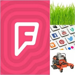 lawn care marketing foursquare