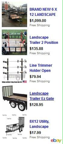 landscape trailers
