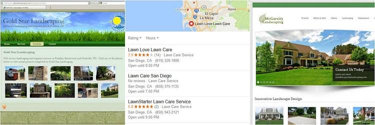 landscaping business websites