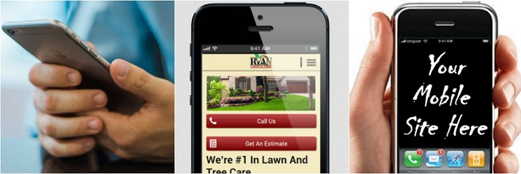 mobile lawn care business website